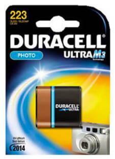 Duracell lithium batteri, PHOTO ULTRA M3, 223, CR-P2, 1 stk.