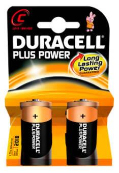 Duracell Plus Power batteri, C LR14, 2 stk.