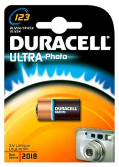 Duracell Photo Ultra 123 Lithium batteri, 1 stk.