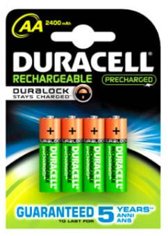 Duracell batteri STAYCHARGED, AA, 4 stk.