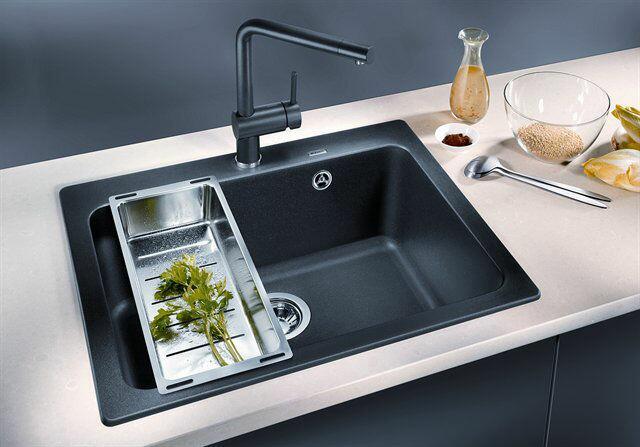 blanco køkkenvask BLANCO Naya 6 F UX køkkenvask   Silgranit Antricit   Kr: 3.185,00 blanco køkkenvask