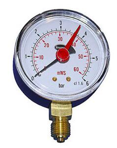 "Manometer 1/4"" x 63 mm - 6 bar"